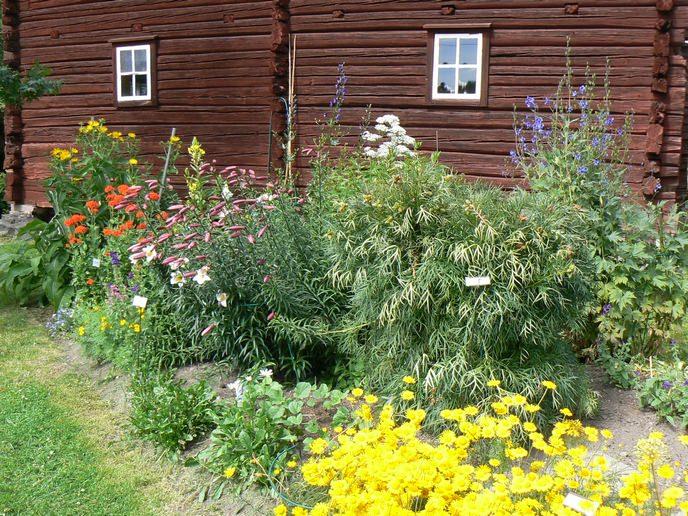 schwedisches Blumenbeet