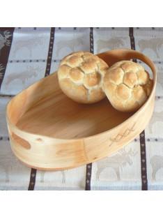 Skandinavisches Kunsthandwerk: Brotkorb aus Erlenholz