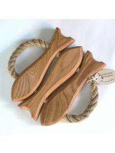 maritimer Topfuntersetzer Fische aus Holz
