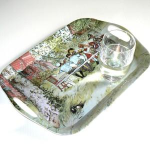 Tablett eckig Carl Larsson Frühstück unter der großen Birke