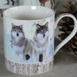 Kaffeebecher / Teebecher Wölfe aus Porzellan