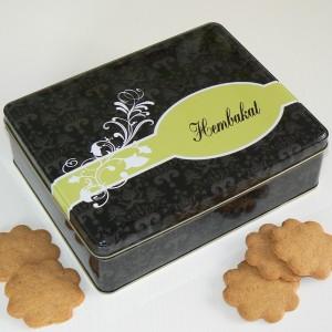 Keksdose für Selbstgebackenes, schwedisch beschriftet