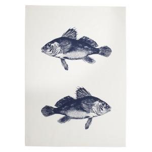 """Geschirrtuch """"Blaue Fische"""" aus Baumwolle"""