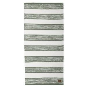 Teppich grün weiß 70x140 cm Baumwolle