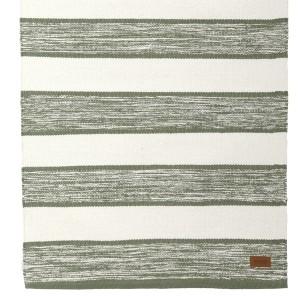 Teppich grün weiß 70x240 cm Baumwolle