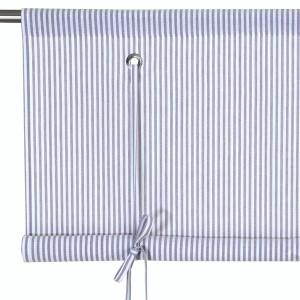 Schwedisches Binderollo blau-weiß gestreift