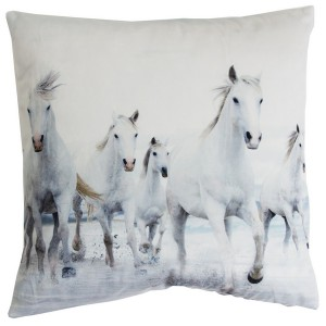 Kissenhülle / Kissenbezug 45x45 cm Pferde