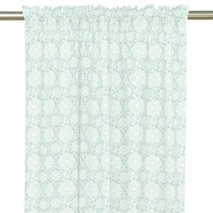 """Gardinenschal / Vorhangschal / Vorhänge """"Mariestad"""" 2er-Set aus Baumwolle in mint"""