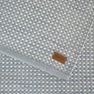 Teppich Vilde hellblau weiß 70x140 cm Baumwolle