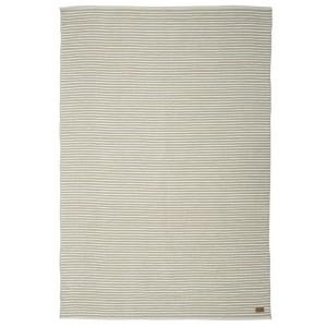 Teppich beige gestreift 70x140 cm Baumwolle