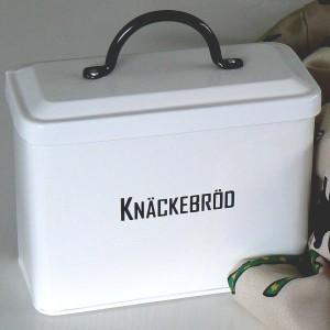 Knäckebrotdose mit schwedischer Beschriftung