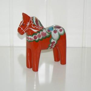 Dalapferd 13 cm rot