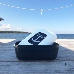 Frozzypack Brotdose mit Kühlfunktion im Deckel mit Anker Motiv
