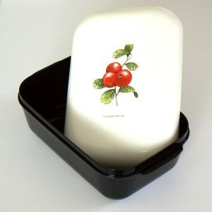 Frozzypack Frühstücksdose mit Kühlfunktion Preiselbeeren