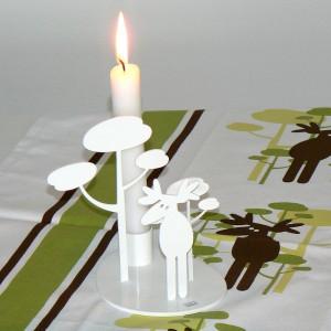 Pluto Produkter Kerzenständer / Kerzenleuchter Elch aus Schweden
