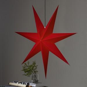 """Riesiger Leucht-Stern """"Rozen"""" aus Papier 140 cm rot hängend"""