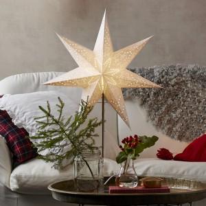 "Skandinavischer Leuchtstern ""Sensy Star"" creme 78 cm"