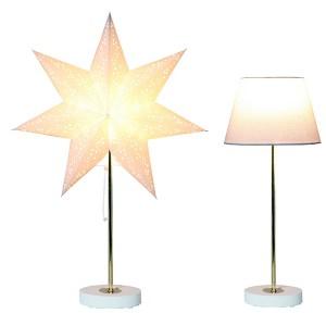 Tischleuchte Combi-Pack weiß mit Papier-Stern