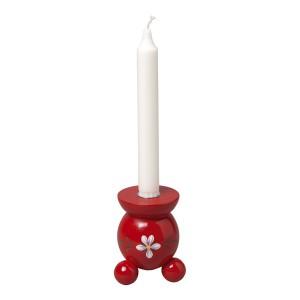 Tolle Weihnachtsdeko: Kugelleuchter Blüte rot