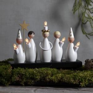 Schwedischer Lichterbogen Lucia Chor aus Holz