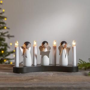 Schwedischer Lichterbogen Engelchor aus Holz 4-flammig