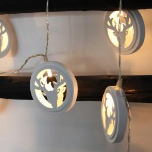 """LED-Lichterkette """"Rentier oder Hirsch Geweih weiß"""" Batteriebetrieb mit Timer"""