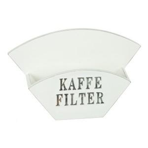 Kaffeefilterhalter weiß im Shabby Stil