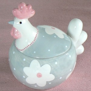 Keramik-Dose Huhn Flora
