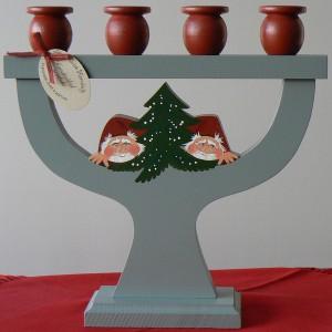 Kerzenständer Tomte / Gran von vorn