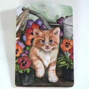 Schneidbrett / Servierbrett Kätzchen
