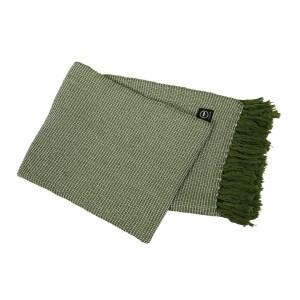 Baumwollplaid Waffelstruktur grün recycelt