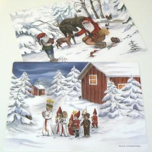 Weihnachtliche Tischsets Lucia Morgen 2er-Set aus Schweden