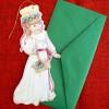 12 Weihnachtsanhänger / Weihnachtskarten mit Umschlag Lucia
