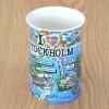 Kaffeetasse mit 3D Stadtplan von Stockholm