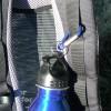 Für Schwedenfans: Edelstahlflasche 750 ml mit Karabinerhaken