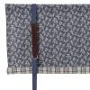 Rollgardine Raffgardine Binderollo Patchwork blau beige 100 cm