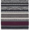 Webteppich grau weinrot 70x140 cm Baumwolle