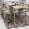 Webteppich 160x230 cm mit Blumenmuster dunkelbraun beige aus Baumwolle