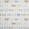 toll designtes Stoffmuster: drollige Katzenköpfe mit Brillen