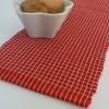 Tischband / Tischläufer rot-weiß 120 x 15 cm