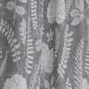Gardinenschal / Vorhangschal  2er-Set Laub grau weiß