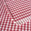 Tischläufer rot-weiß aus Baumwolle gewebt 120 x 35 cm