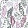 Gardinenschal mit Blättern weinrot 2er-Set