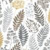 Gardinenschal mit Blättern ocker 2er-Set