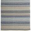 Schwedischer Webteppich aus Baumwolle 70x240cm beige blau grau