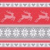 """20 Papier Servietten """"Nordisches Strickmuster"""" rot, grau und weiß"""