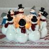 Harvesttime Teelichthalter Schneemann-Ring für ein Maxi-Teelicht
