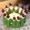 Harvesttime Teelichthalter für ein großes Teelicht Tomtekreis grün