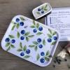 Blaubeer Tablett eckig 27x20 cm