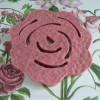 Filzuntersetzer Rose Schurwolle